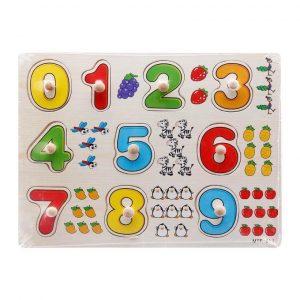 Bảng gỗ xếp- ghép hình dạy nhận biết (Các loại hình, có núm)