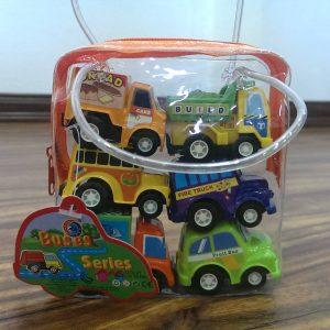Đồ chơi ô tô chạy cót Buses Series (6 chiếc)