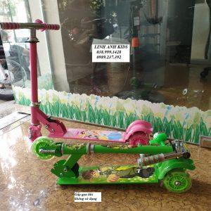 Xe Trượt Scooter 3 Bánh Phát Sáng (có chuông và giảm xóc)