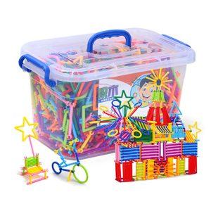 Bộ đồ chơi xếp hình que thông minh cho bé (Hộp trung)