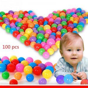 Combo 100 trái bóng nhựa mềm nhiều màu sắc (8 màu,kt 5cm)