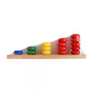 Đồ chơi gỗ học đếm cao thấp hình tròn DS002