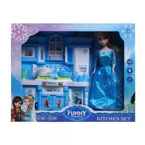 Đồ chơi búp bê công chúa Elsa Kitchen Set (chất liệu an toàn)