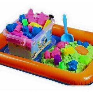Bộ đồ chơi khuôn và cát nặn vi sinh 5+ (Không mùi, an toàn cho  bé)