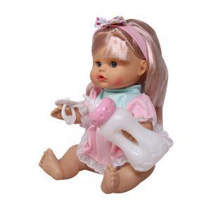 Đồ chơi búp bê bé gái bình sữa Bonnie (chất liệu nhựa PE an toàn)