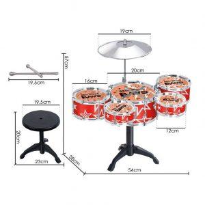 Đồ chơi bộ 5 trống Jazz Drum Cỡ lớn (Tặng kèm ghế)