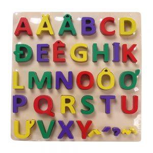 Bảng chữ cái nổi Tiếng Việt thông minh (loại to, gỗ dày dặn)