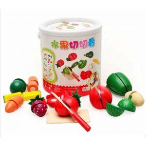Bộ đồ chơi cắt hoa quả bằng gỗ xuất Nhật (Gỗ an toàn)