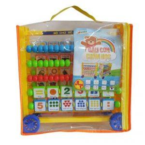 Bộ học chữ và số Sato Gấu con chăm học (nhựa an toàn)
