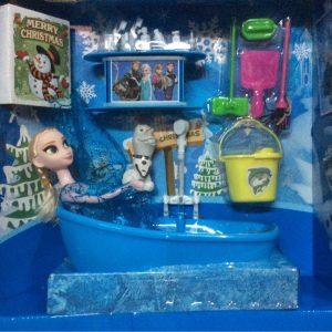Bộ đồ chơi bồn tắm búp bê Elsa nhiều phụ kiện (Khung cảnh giáng sinh)