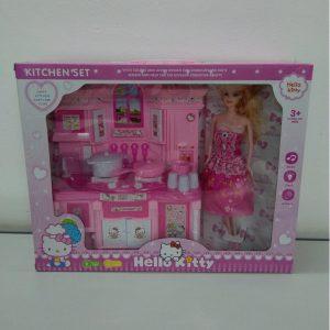 Bộ Đồ Chơi Nhà Bếp Hello Kitty Cùng Búp Bê (Có Đèn, Nhạc)