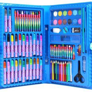 Bộ Bút Chì Màu 86 Món Cho Bé Vui Học (Dạng Cặp Xách Tiện Lợi)