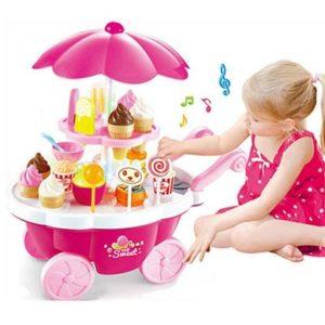 Bộ đồ chơi xe đẩy kem có đèn phát và nhạc (39 pcs)