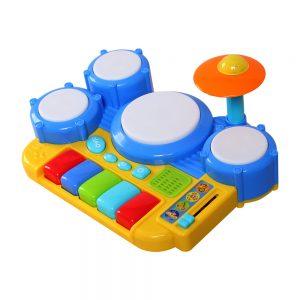 Bộ đồ chơi trống và đàn WinFun cho bé (Chất liệu an toàn)