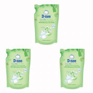 Bộ 3 Túi Nước Rửa Bình Sữa Dnee 600ml (Thái Lan)