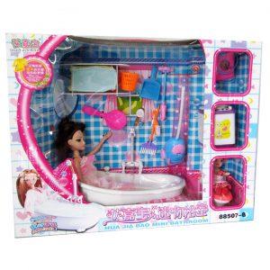 Bộ đồ chơi phòng tắm, dụng cụ vệ sinh 2 chị em búp bê Lelia