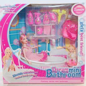 Bộ đồ chơi búp bê baby Dream mini bathroom (2 nàng búp bê)