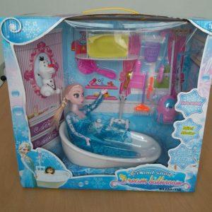 Bộ đồ chơi bồn tắm búp bê Elsa và dụng cụ vệ sinh phòng tắm (Bộ to)