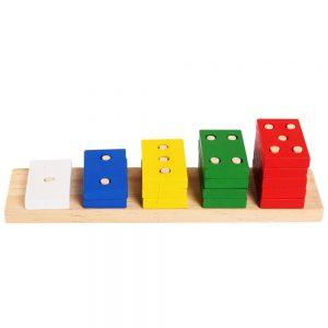 Đồ chơi học số đếm cao thấp hình chữ nhật