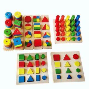 Bộ giáo cụ hình học Montessori hộp 8 món