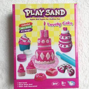 Bộ đồ chơi cát động lực PLAY SAND – Lovely Cake