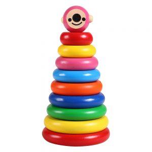 Đồ chơi tháp hề gỗ Etic C401A (Chất liệu gỗ an toàn, bền đẹp)