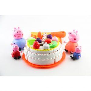 Bộ đồ chơi cắt bánh sinh nhật cùng gia đình nhà lợn Peppa Pig