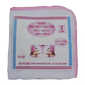 Set 10 chiếc khăn xô sữa Kiba 2 lớp siêu mềm