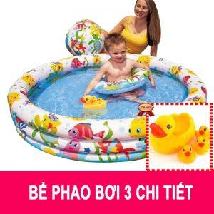 Bộ bể bơi 3 chi tiết bể – phao – bóng Intex 59460