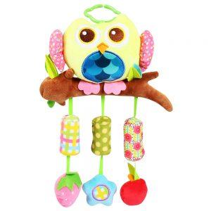 Bộ đồ chơi treo nôi cũi hình cú (Chất liệu vải an toàn)