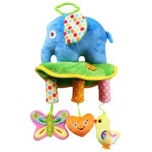 Bộ đồ chơi treo nôi hình voi con (Chất liệu vải an toàn)