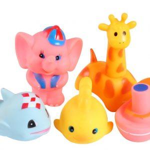 Set 5 đồ chơi bóp chíp dễ thương (chất liệu nhựa an toàn)