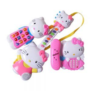Bộ Đồ Chơi Đàn và điện thoại Hello Kitty