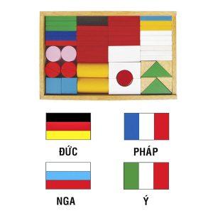 Đồ chơi xếp gỗ thông minh Winwin Toys – Bộ cờ quốc gia