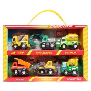 Vỉ đồ chơi 6 xe xây dựng công trường