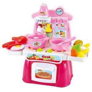 Đồ chơi căn bếp nhỏ có tiếng và đèn màu hồng