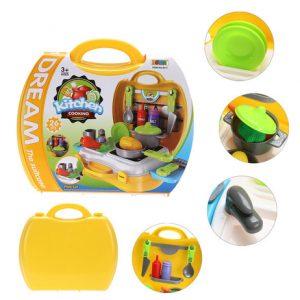 Hộp đồ chơi nhà bếp màu vàng
