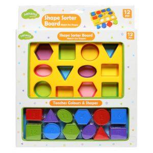 Đồ chơi thả khối hình học Pamama nhiều màu sắc