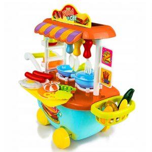 Bộ đồ chơi nấu ăn trên xe bé trai