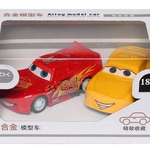 Hộp đồ chơi hai xe ô tô sắt siêu xinh