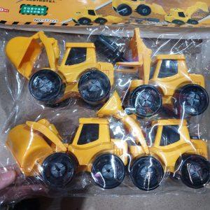 Set 4 xe công trường (màu vàng bắt mắt)