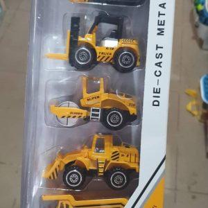 Đồ chơi vỉ 5chiếc xe ô tô công trường màu vàng