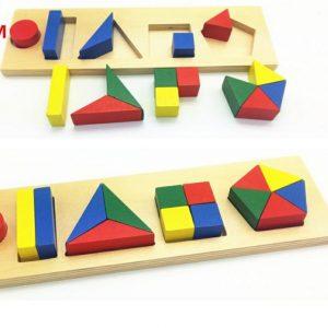 Ghép Hình Gỗ Montessori (Loại Lớn )