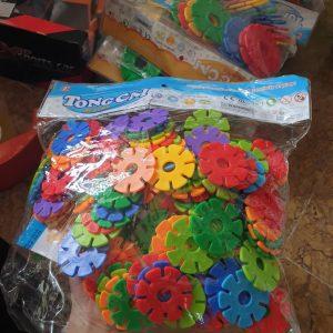 Xếp hình hoa nhiều mẫu mầm non