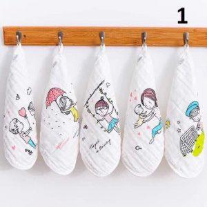 Set 5 khăn mặt xô 6 lớp cho bé