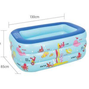 Bể bơi 3 tầng hình chữ nhật đủ kích thước