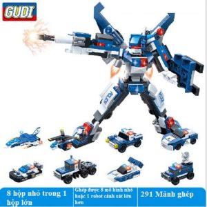Bộ đồ chơi Lego robot 8 trong 1 (chất liệu an toàn)