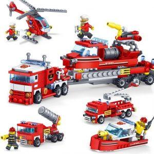 Bộ đồ chơi Lego xe cứu hỏa 4 trong 1 (chất liệu an toàn)