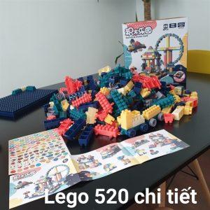 Bộ Lego Xếp Hình Gồm 520 chi tiết