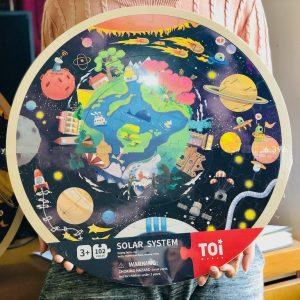Bộ đồ chơi ghép hình vũ trụ chất liệu gỗ cao cấp (102 chi tiết hàng TOI)